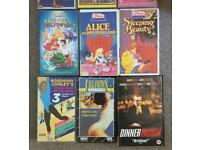 BARGAIN.. JOB LOT 15 VHS TAPES, MANY KIDS FILMS MIXED SOME RARE