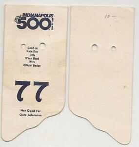 1983-Indianapolis-500-Back-Up-Card-77-for-Pit-Badge-Credential-IndyCar-Indy500