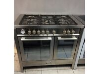 Baumatic BCD1025SS Dual Fuel Double Oven Range Cooker with Warranty