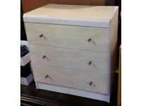Vintage Small Melamine Chest of three Drawers