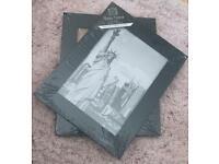 2x black photo frames