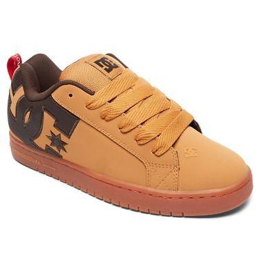Scarpe Uomo Skate DC Shoes Court Graffik SE Wheat Coffee Schuhe Chaussures - Dc Court Graffik Se Schuh