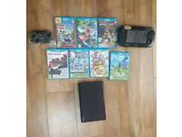 Nintendo Wii U console with 7 games
