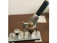 Badge maker machine, creates 25mm (1 inch) badges, best quality pressing machine on the market.