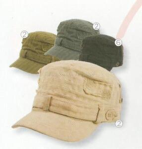 1-ACD109-D-Y-WOMENS-100-Cotton-CADET-MILITARY-GOLF-Sun-Cap-HAT-5-COLOR-Options