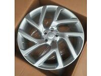 "Evoque Discovery Sport Velar x4 20"" V-Lar Style Alloy Wheels Silver 5x108"