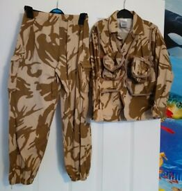 5-8 years British Desert Storm trousers and shirt with attached Utility vest. Excellent condition.