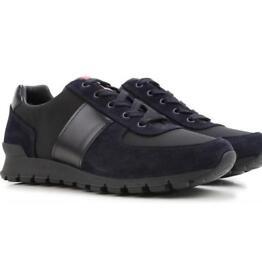 Prada Sneakers In Midnight Blue Black - Mens Prada - Size: 11.5