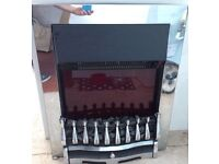 Dimplex Chrome Electric Fire - As good As New