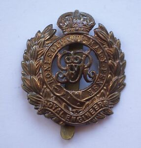British Army original WWI era Royal Engineers cap badge.
