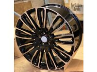 "21"" RANGE ROVER VELAR STYLE ALLOY WHEELS LAND ROVER SPORT DISCOVERY VOQUE"