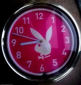 Playboy Pink Neon Light Up Wall Clock
