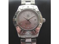 Tag Heuer Aquaracer Ladies Watch Pink Diamond Dial WAF141A