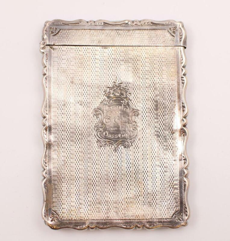1874 Victorian silver Card Case George Unite 3.75 x 2.5 to CCR from Class Girls