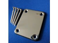Guitar neck plate, for Gibson , Fender , Epiphone or Gretsch