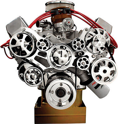 BILLET SPECIALTIES TRU TRAC BBF FRONT ENGINE KIT,AIR CONDITIONER COMPRESSOR,A/C