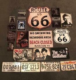 Movie Themed Plaques & Licence Plates