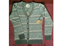 Women's ladies cardigan from Telluride Clothing Co, size M Lambswool, new with tags