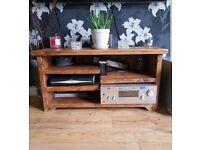 Oak Tv Unit - QUICK SALE £90