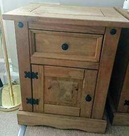 Mexican Pine Bedside Tables x2