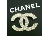 Stunning! Gold Dazzling Diamante Chanel Brooch ~ Only £7