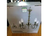 2 x Dunelm 'Boudoir' 5 light chandelier style light fitting