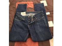 Mens bundle Hollister jeans, 3 ralph lauren polos, 1 long sleeve ralph crew cut top small
