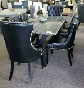 Granite Top Dining Table 4 side Chairs 2 Captains Chairs on Deal