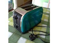 ASDA TA-200BU 2 Slice Toaster 1100W – Turquoise