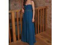 Prom Dress - Size 8, Teal
