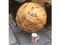 Large Teak Ball, Very Decorative, Indoor / Outdoor.