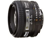 Nikkor 50mm F1.4D - as new