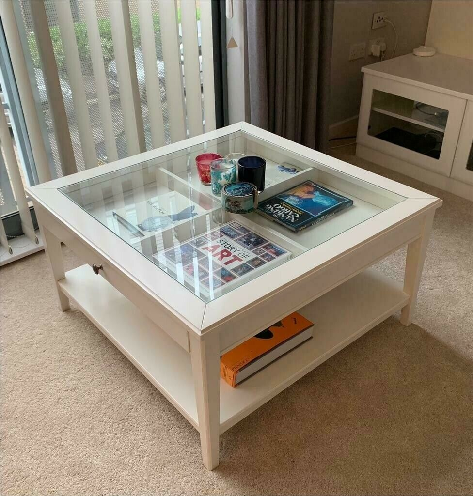 Wooden Coffee Table With Glass Top Ikea Liatorp In Cambridge Cambridgeshire Gumtree