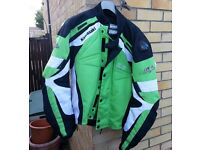 kawasaki ninja Green motor cycle jacket size 58-48/3XL