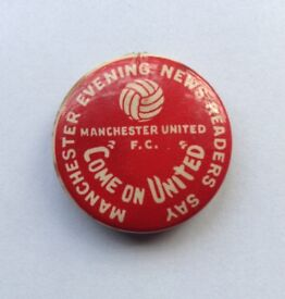 Wanted Man Utd Football Badge From The Manchester Evening News
