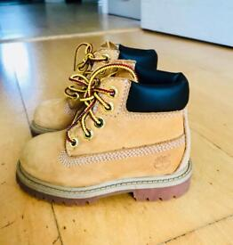 Infant size 6 Timberland Boots-used twice