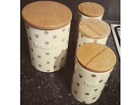 Next matching set - tea coffee sugar and biscuit containers