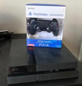 PS4 Jet Black Model, 500gb HDD & 12 Months Warranty