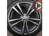 """18"""" Genuine Audi A3 S Line alloys Golf Caddy Leon perf cond Continental tyres."""