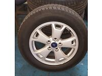 "Genuine Ford Transit Connect (09/13>) 16"" X 6.5J Alloy Wheels x 4 BRAND NEW with tyres RRP £1100"