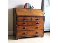 Antique Mahogany Shabby Chic Bureau Desk