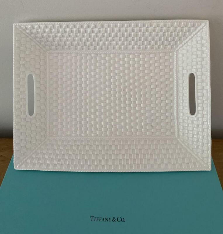 "Tiffany Sybil Connolly ""Tiffany Weave"" Serving Tray Ireland In Original Gift Box"