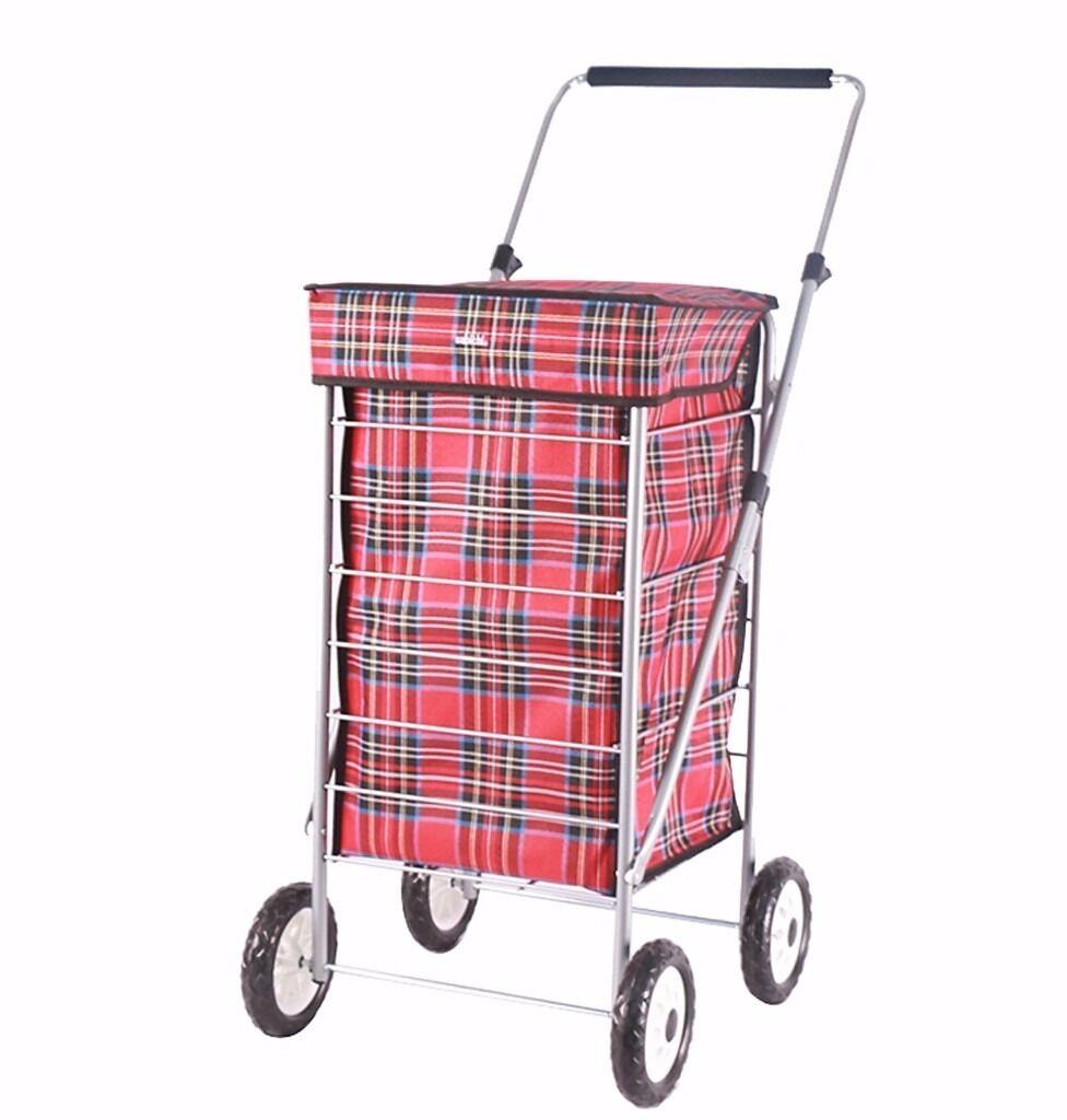 4 wheel shopping trolley, new and 1 used, in VGCin Lower Earley, BerkshireGumtree - 4 wheel shopping trolley, new, waterproof. 60 l capacity. Surplus to requirement. £18 1 used shopping trolley in VGC