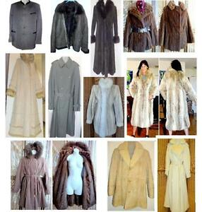 WINTER COATS JACKETS // LARGE SIZES // M AND F //SHEEPSKIN FUR WOOL LEATHER BRANDS // MODERN VINTAGE // OAKVILLE