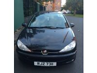 Black Peugeot 206 LX, perfect first car 1.1 engine