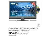 """Cello 16"""" LED FULL HD Tv DVD COMBO BNIB"""