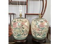 Pair of oriental lamp base