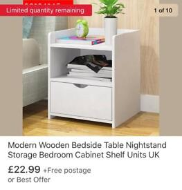 Bedside table storage cabinet drawer
