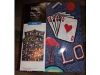 Brand New King Size Poker Style Bedding