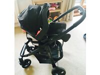Graco Evo PitStop Travel System for sale in excellent condition! 2 way facing pushchair & Car Seat
